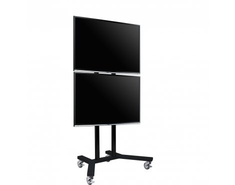 B-Tech Twin Display Trolley Stand for 2 TVs up 65""