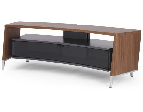 Off-The-Wall Curve 1500 Dark Wood Laminate TV Stand (Walnut Effect)