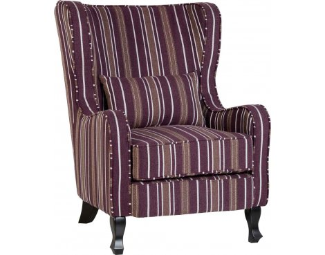 ValuFurniture Sherborne Fireside Chair - Burgundy Stripe