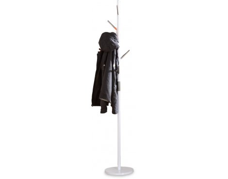 ValuFurniture Byron Coat Stand - White Gloss & Chrome