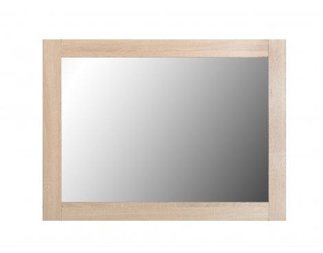ValuFurniture Lisbon Wall Mirror - Light oak