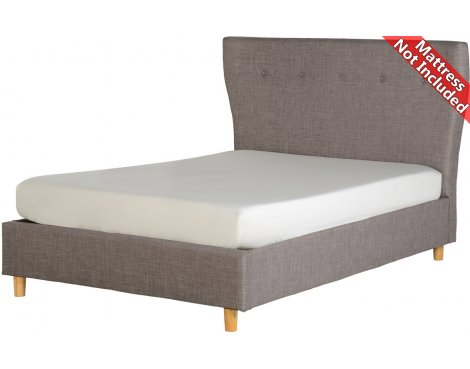 ValuFurniture Regal Fabric Bed Frame - Double - Grey