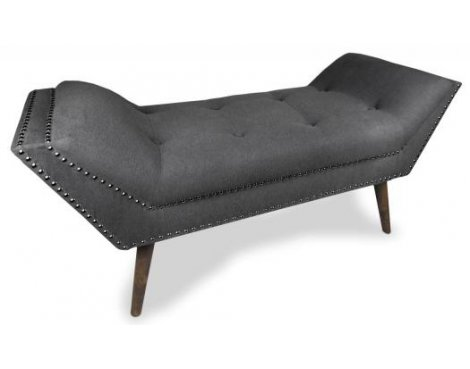 Shankar Mulberry Medium Fabric Chaise - Charcoal
