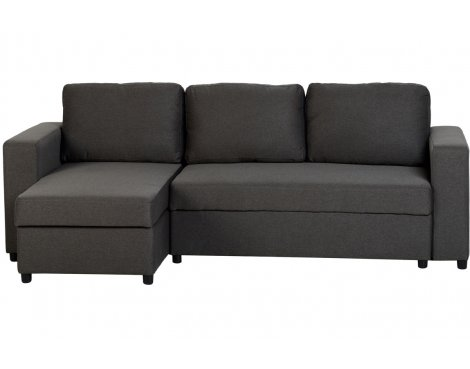 ValuFurniture Dora Fabric Corner Sofa Bed - Grey