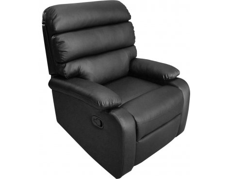ValuFurniture Bellamy PU Leather Reclining Chair - Black