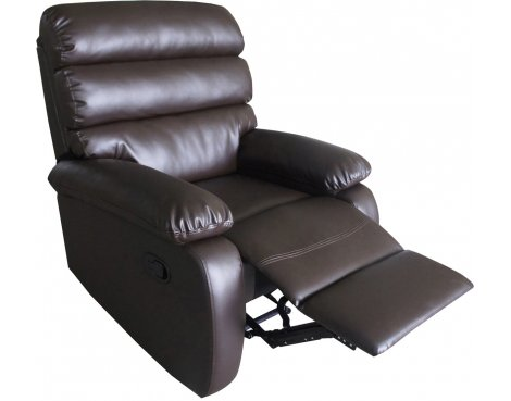 ValuFurniture Bellamy PU Leather Reclining Chair - Brown