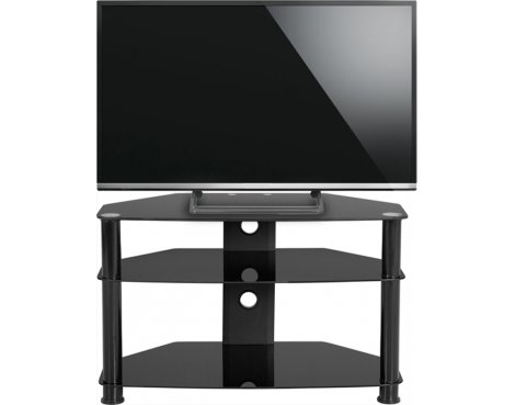 ValuFurniture Berlin Black Glass TV Unit for up to 42""