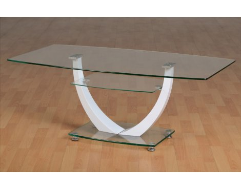 ValuFurniture Henley Clear Glass Coffee Table