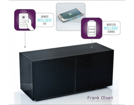 Frank Olsen INTEL1100BLK Black TV Cabinet For TVs Up To 55""