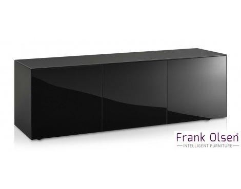 "Frank Olsen INTEL1500BLK Black TV Cabinet For TVs Up To 70\"" FREE IPHONE CASE"