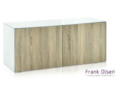 "Frank Olsen INTEL1100WOK White TV Cabinet For TVs Up To 55"" 55\"" FREE IPHONE CASE"