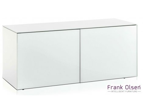 "Frank Olsen INTEL1100WHT White TV Cabinet For TVs Up To 55"" FREE IPHONE CASE"