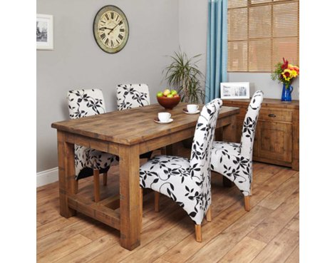 Baumhaus Heyford CRS04A Rough Sawn Oak Dining Table (4 Seater)