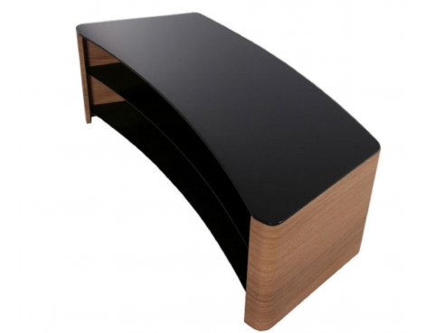 TNW Milan Curve 1050 Oak and Black TV Stand