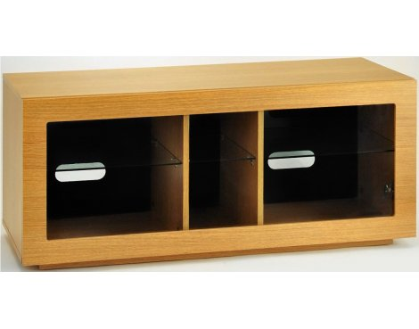 "B GRADE/Box slightly damaged TNW Murano 1050 Oak TV Stand For Up To 50"" TVs"