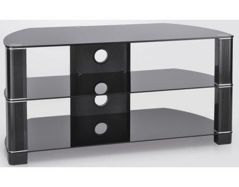 ValuFurniture Symmetry 1050 Black Glass TV Stand