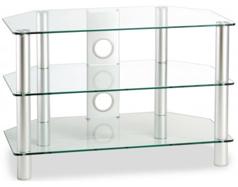 ValuFurniture Classik 600 Clear Glass TV Stand
