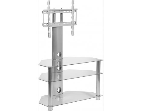 MMT CC32 Clear Glass Swivel Cantilever TV Stand for up to 50""