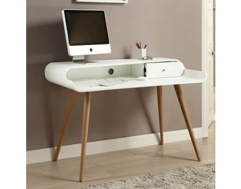 Jual Home Office PC702 Tower Desk - White