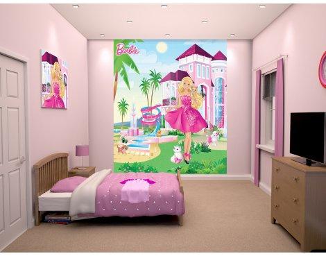 Walltastic Barbie Pink Palace Wallpaper Mural