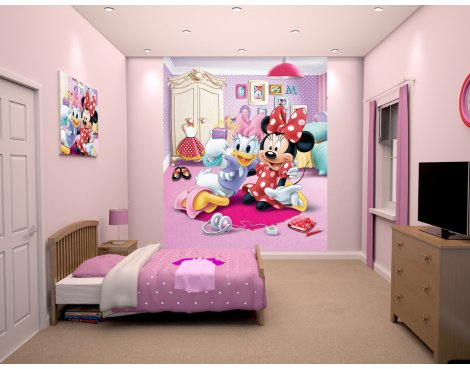 "Walltastic Disney Minnie Mouse 8ft x 6ft 6"" Mural"