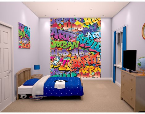 "Walltastic Graffiti 8ft x 6ft 6"" Mural"