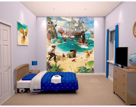 "Walltastic Pirate and Treasure Adventure 8ft x 6ft 6"" Mural"