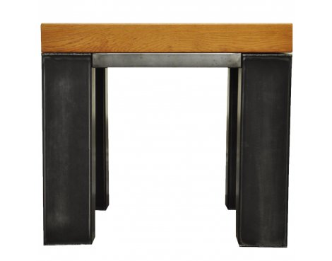 Ultimum Industrial Style Oak Side Table