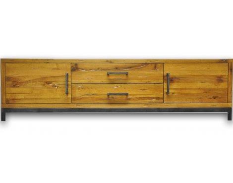 Ultimum Industrial Style Oak Large TV Unit