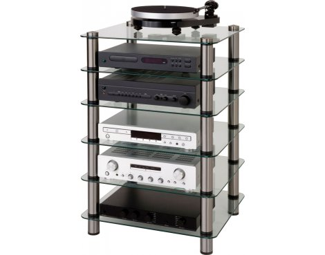 Optimum Prelude Slimline Six Shelf Hifi Stand