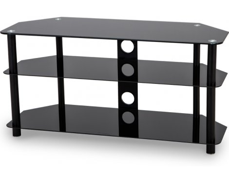 """Stealth Mounts 1000mm Black Glass TV Stand for TVs up to 50\"""""""
