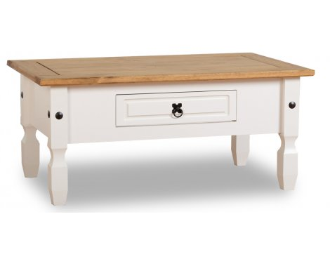 ValuFurniture Corona 1 Drawer Coffee Table - White