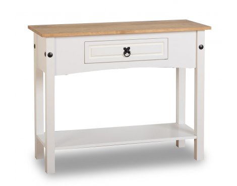 ValuFurniture Corona 1 Drawer Console Table - White