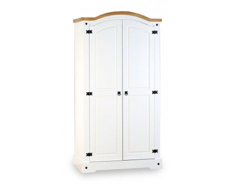 ValuFurniture Corona 2 Door Wardrobe - White