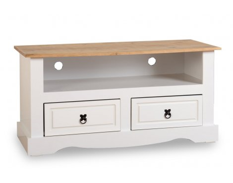 ValuFurniture Corona 2 Drawer TV Unit - White