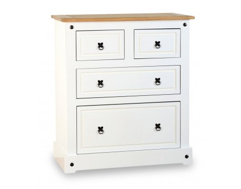 ValuFurniture Corona 2+2 Drawer Chest - White