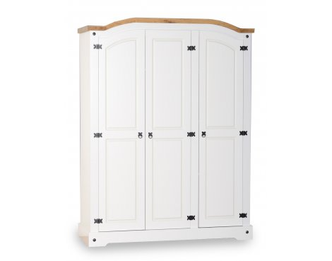 ValuFurniture Corona 3 Door Wardrobe - White
