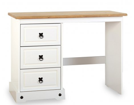 ValuFurniture Corona 3 Drawer Dressing Table - White