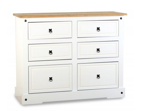 ValuFurniture Corona 6 Drawer Chest - White