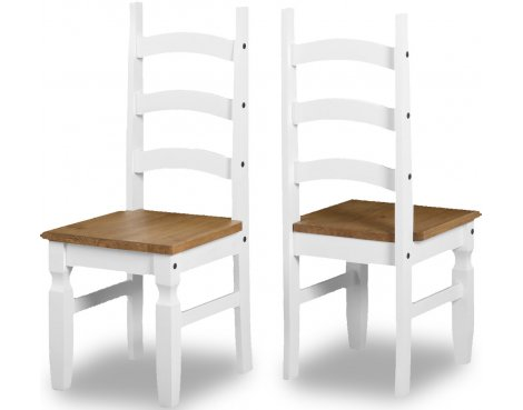 ValuFurniture Corona Dining Chair - Set of 2 - White