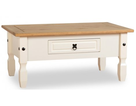 ValuFurniture Corona 1 Drawer Coffee Table - Cream