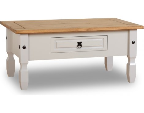 ValuFurniture Corona 1 Drawer Coffee Table - Grey
