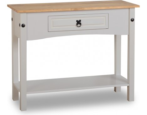 ValuFurniture Corona 1 Drawer Console Table - Grey