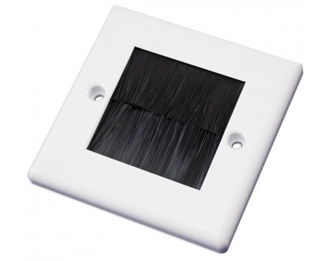 Single Outlet Brushplate - White