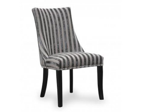 Pair of Shankar Balmoral Velvet Stripe Mink Chair