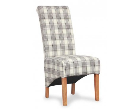 Shankar Pair of Krista Herringbone Cappuccino Check Chair