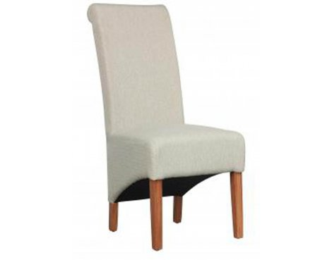 Shankar Pair of Krista Herringbone Cappuccino Fabric Chair