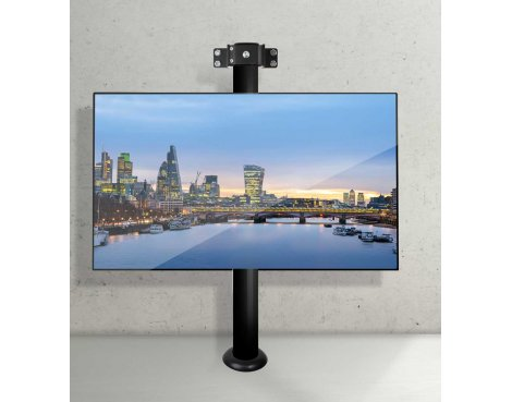 "B-Tech Floor to Wall Mount for up to 55"" TVs - 1m Pole - Black"
