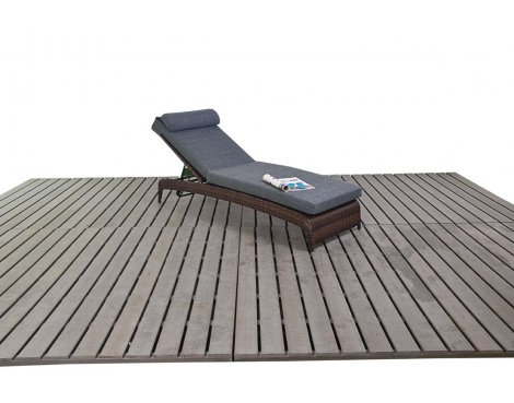 Luxan WGF-1216 Prestige Lounger - Brown