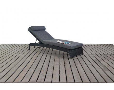 Luxan WGF-1316 Prestige Lounger - Black